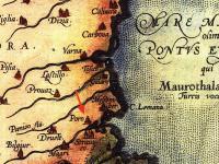 Джакомо Касталди (1500-1565). Карта на Тракия, България, Влахия и Сърбия, 1584 г. (Касталди първи е документирал селището Поро, предшественикът на днешния Бургас)