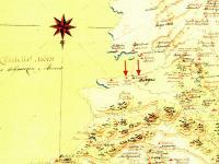 Военна карта на България и пътищата към Цариград, 1771 г. Наименованието Пиргос е изписано като Пирсо-Pirso