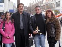 """Отляво надясно: Анелия Георгиева (""""Еквалибриум 2007""""), Денчо Михов, Динко Динков (""""Еквалибриум 2008"""") и Петра Лимоза"""