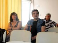 Издателите на книгата: г-жа Петя Станева (родена в Айтос) и г-н Денчо Михов