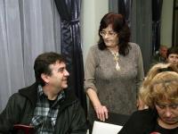 Авторка и издател в последни уточнения преди началото на премиерата (Снимка: Борислав Пенков)