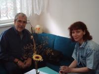 """С ген. Тодор Бояджиев при подготовката на книгата му """"Разузнаването"""""""