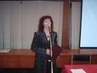 Петя Станева като водещ на премиера на книга