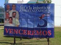 Билборд на петимата кубински разузнавачи