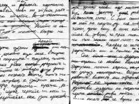 """Факсимиле от ръкописа на """"Стрък трева и цвете"""""""