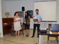 Поздравления към Таня Мир от Мария Цонева, председател на постоянната Комисия по култура към Община Казанлък