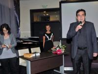 Издателят и редактор на книгата Денчо Михов, за поезията на Теодора Вълева (Снимка: Лина Главинова)