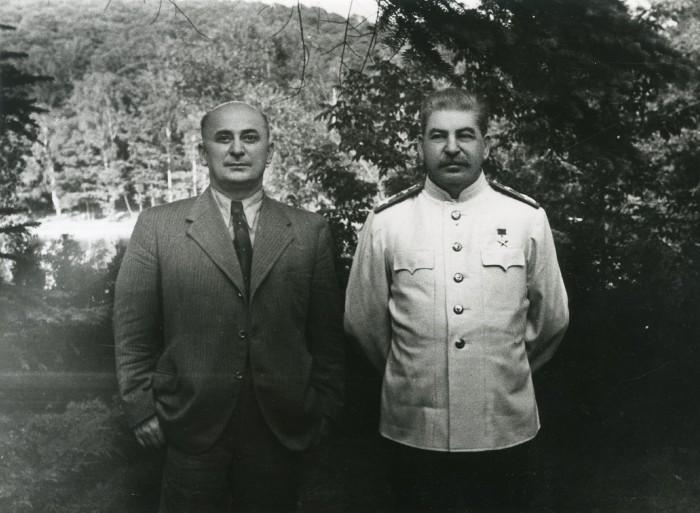 Лаврентий Берия и Йосиф Сталин
