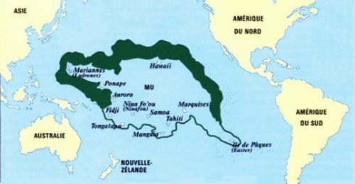 Вероятното местонахождение на континента Му