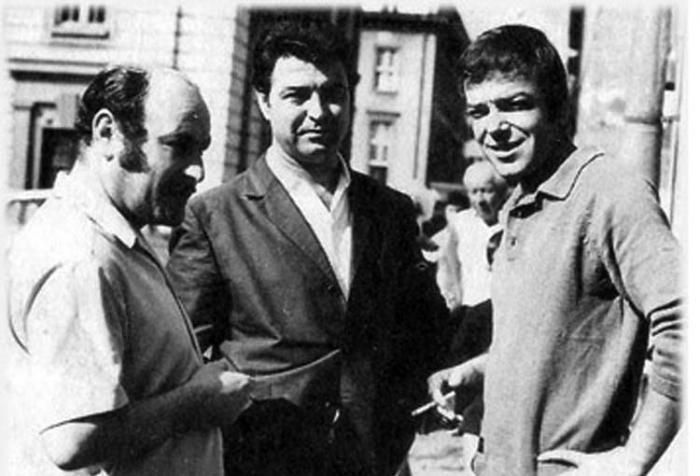 Реджеб Кюпчу (вляво) с Николай Лайков и Христо Фотев
