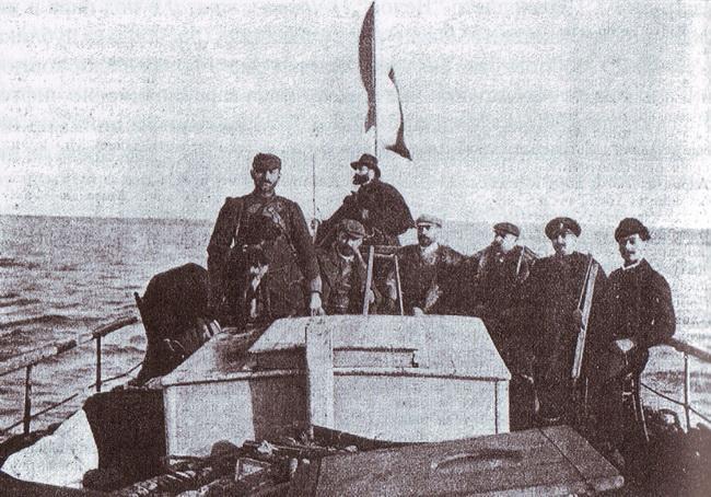 "На парахода ""Veloce"", 1901 г."