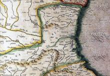 """Фрагмент от картата на """"Влахия, Сърбия, България и Румелия"""" от Герхард Меркатор (1512-1594), където селището Поро е маркирано на северния бряг на Бургаския залив. Картата е изработена през 1589 г."""