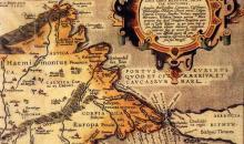 Карта на Антична Тракия, от Абрахам Ортелиус (1527-1598), съставена през 1585 г. в Антверпен, Белгия